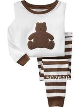 6sets/lot  pajamas baby wear set 100% conton baby long sleeve pajamas Baby Pyjamas, Children Pyjamas, Children Sleepwear G-4147(China (Mainland))