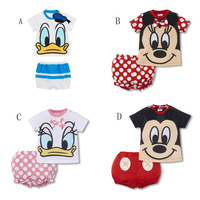 Popular baby suit Lovely pattern top+short pant Cute design Suitable for baby girls and boys 2013 popular style