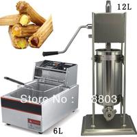 2 in 1 12L Spanish Churro Machine + 6L Electric Deep Fryer