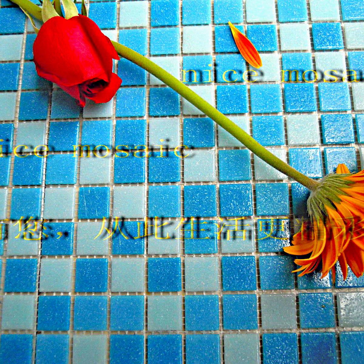 Cristal Del Mosaico Azulejos Bano Papel Piece