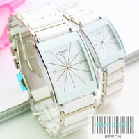 Watch fashion waterproof lovers watches white ceramic watch a pair of rhinestone fashion watch