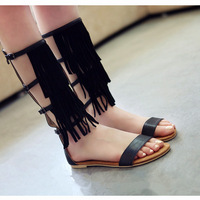 [Free shipping] 2013 New arrival fashion spring gladiator style vintage casual tassel sandals women's flats female shoes