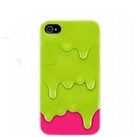 For iphone 4 4s ice cream ice shell phone case protective free shipping with 3D