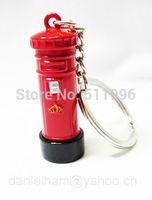 2012 London Olympic souvenirs 2014 new key chains London red metal post box key ring free shipping !