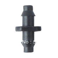 "Wholesaler 1000pcs-pack 1/4"" barbed connector double ways Used to splice our 4/7mm polyethylene tubing together"
