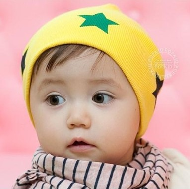 Pocket 1 hat baby spring and autumn baby hat piles cap labeling infant turban(China (Mainland))