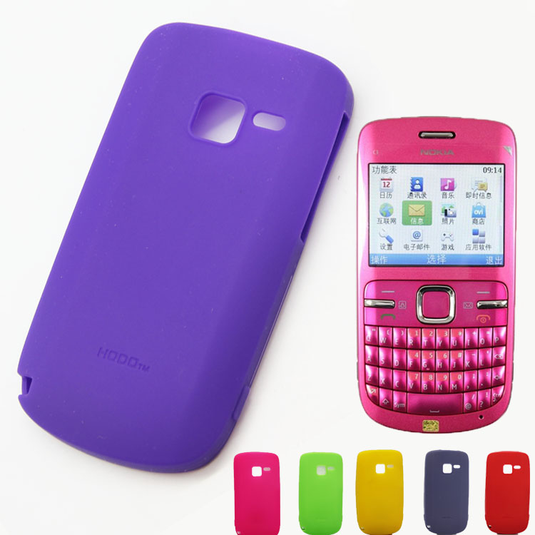 Silicone mobile phone case for NOKIA C3,Soft case for C3[Free Shipping](China (Mainland))