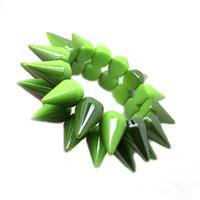 Min.order is $20 (mix order) Wholesale Bracelet punk candy color acrylic rivet double layer elastic bracelet fashion jewellry