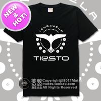 high quality tiesto top dj 100% cotton multicolor casual printing loose t-shirt tee dress camiseta