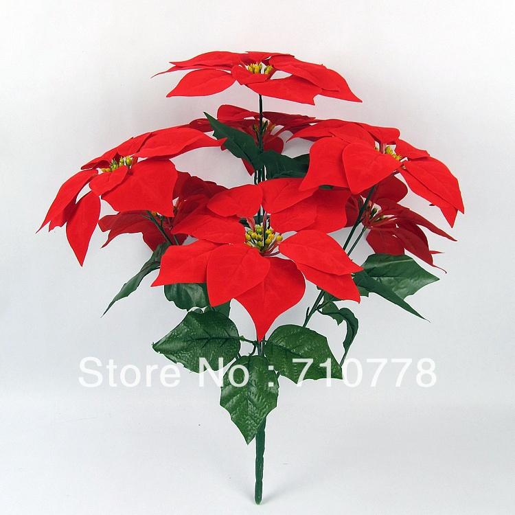 5PCS 7stems Artificial fabric silk flowers plastic flower