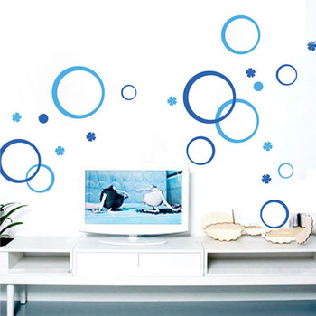 Wall stickers brief tile stickers glass wall stickers refrigerator stickers tv background wall child real circle bubble