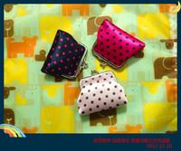 Dot mercerizing hasp bag women's day clutch coin case,Free Shipping