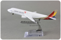 16cm Airplane Model ASIANA AIRLINES Airbus  A320 Airways Aircraft Alloy Airways Plane Model Diecast Souvenir Toy Vehicle Gift