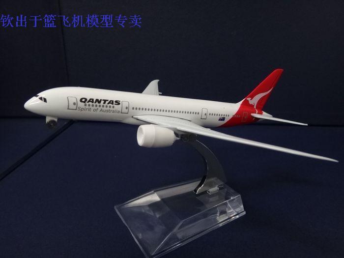 1:400 16cm Airplane Model Australian Qantas Air Airlines Boeing B787 Airway Aircraft Jetliner Alloy Plane Model Diecast Souvenir(China (Mainland))