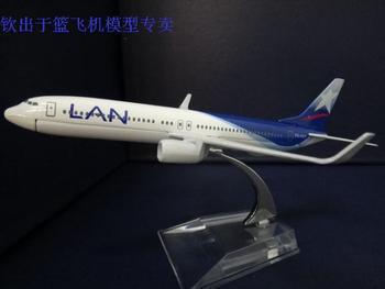 1:400 16cm Airplane Model Chile LAN Airlines Boeing B737 800 Airway Aircraft Jetliner Alloy Plane Model Diecast Souvenir Vehicle