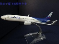1:400 16cm Airplane Model Chile LAN Airlines Boeing B737 800 Airway Aircraft Jetliner Alloy Plane Model Diecast Souvenir Vehicle