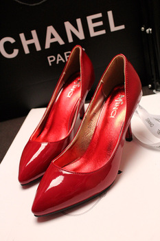 2013 spring boots high-heeled shoes stiletto japanned leather single shoes sweet wedding shoes