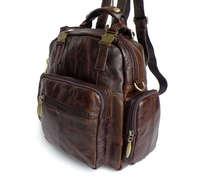 Vintage Genuine real leather  Men buiness handbag  laptop briefcase  shoulder bag backpack / woman  messenger  bag  JMD2546-214
