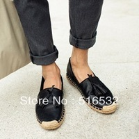 Japan and South Korea style restoring ancient ways the lazy  doug shoes, leather shoes hot beggar shoe bottom weave linen