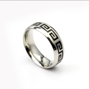 Min.Order is $10 (Mix Order) Titanium Steel Silver Black Great Wall Ring For Men (Wide) Finger Ring Free Shipping #jzx-00044(China (Mainland))