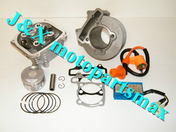 Chinese Scooter GY6 150cc Big Bore Cylinder, Piston, Rings ,Head with Gaskets Performance Racing CDI & Performance Ignition Coil