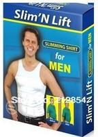 Men Slim n Lift Slimming Shirt fit Vest Shaping Undergarment waistcoat Beer Belly Body Shaper clothes apparel
