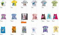 Cartoon children's T-SHIRT boys & girls short sleeve Shirt/ Cotton wholesale 30pcs per lot; 5 sizes;Discount shipping