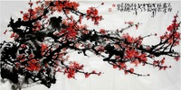 Oriental Asian Original Painting Ink Brush on Xuan Paper  decorative Chinese  Plum painting 100%hand painted abstract flowers AE