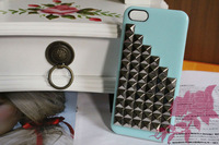 Rivets for the iphone 5, latest fashion design cover case for iphone 5 g, wholesale 50 PCS