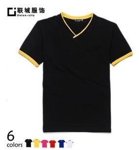 men/women DIY single color logo styleengin V Tee T shirt 10pcs