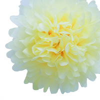 600pcs/lot Light yellow 18'' paper pom poms wholesale for wedding decoration  Any Color can be customized