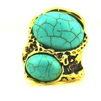 Fashion b34 : fashion luxury natural stone inlaying metal ring m014