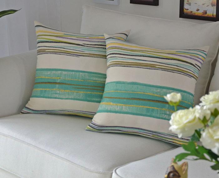 Cheap Stripes Pillow for the Sofa Chair Cushion Mat Covers Euro Throw