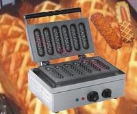 Electric 110V/220V Lolly Waffle maker / 6 pcs  French sausage machine/ Electric sausage maker/hot dog bread/ waffle iron
