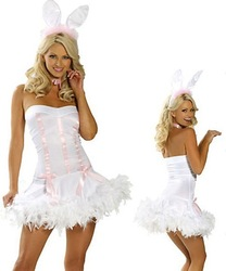 The white rabbit girl stage clothing, sexy cosplay costume, annual performance clothing, studio photography photo service(China (Mainland))