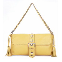 Tassel small bags cowhide one shoulder cross-body handbag genuine leather handbag women's chain bag