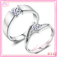 New style Wedding ring Fashion jewelry silver bride ring love forever eternal lovers couple ring Free shipping RG31