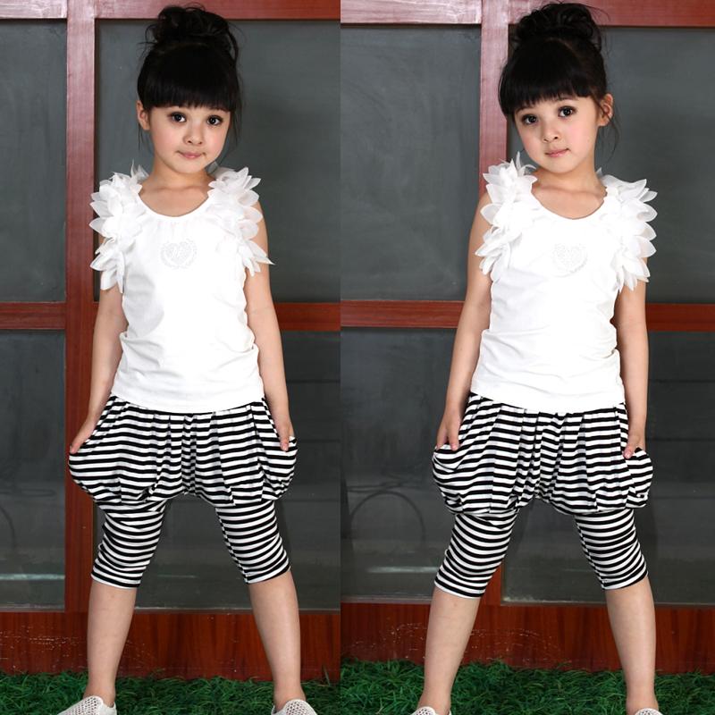 ملابس الاطفال صيف 2013 Children-s-clothing-female-child-2013-summer-child-laciness-sleeveless-vest-capris-sports-set.jpg