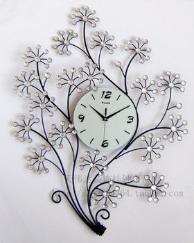 2014 Circular Metal Real Wall Clocks Large Wooden Arch Hammock Fashion Clock Mute Electronic Decoration Watch Personalized Tieyi