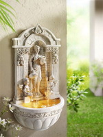Free Shipping Wall hangings resin fountain fashion home decoration wall  Crafts