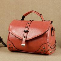 New arrival 2013 candy color rivet motorcycle bag handbag cross-body women's one shoulder small bag