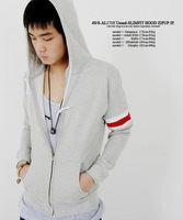 male slim sweatshirt outerwear spring autumn thin coat with a hood cardigan male clothes men's clothing  hoodies WC0166