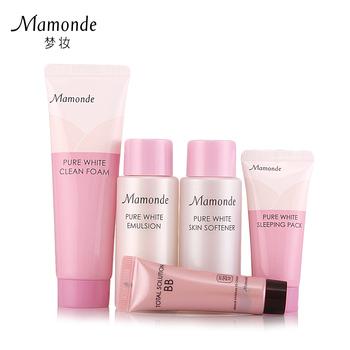 Mamonde jingbai flower travel set cleansing emulsion mask bb whitening moisturizing