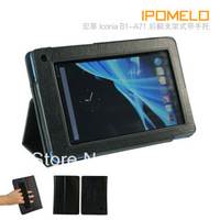 New stand handhold leather cover case for Acer lconia Tab B1-A71 free shipping by air mail ED816