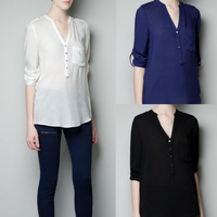 2013 NEW Western Style Women's Ladies shirt Long Sleeve Fashion ShirtsTops blouse free shipping