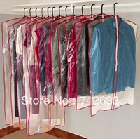 15 Zippered Garment Bags Keep Waredrobes Safe Dress Suit Cover Clear Dust Clean