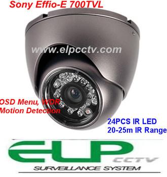 700TVL Sony Effio-E CCD IR waterproof dome camera security camera ELP-407VR