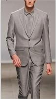 2013 New Arrival men business suit high quality dress suit T- show fashion grey suits size S-4XL( coat+pants)
