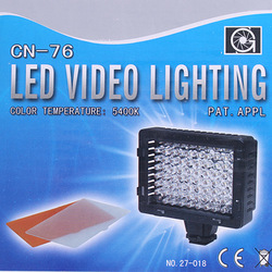 Hot Sale CN-76 LED Video Camera Light Camcorder DV Lamp Light 5400K,Reatail Box+Free Shipping Wholesale(China (Mainland))