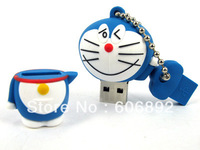 Real memory 2GB 4GB 8GB 16GB or 32GB Lovely Cute Cartoon silicon USB flash drive free shipping